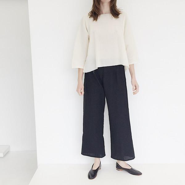 LLOYD Black Linen Pant