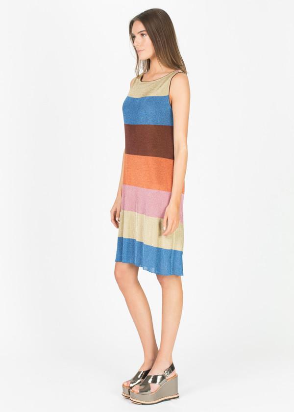 Siyu Striped Lurex Shift Dress