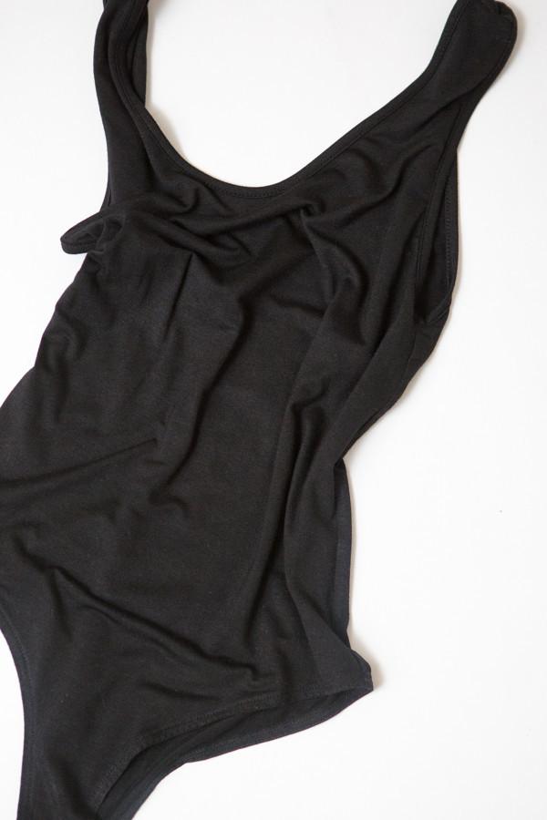 BLQ Basiq Scoop Back Bodysuit - Black