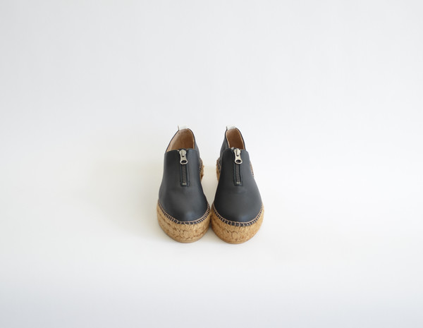Serena Black leather
