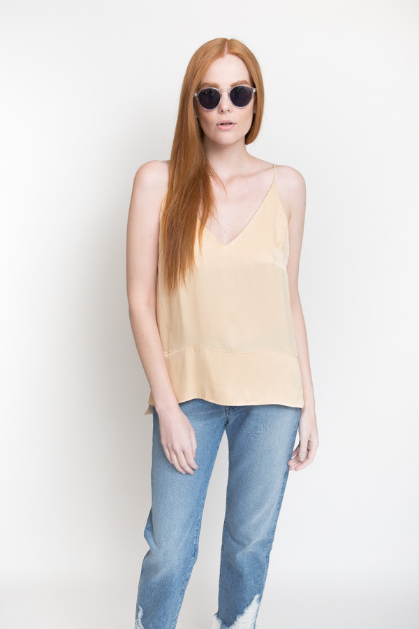 Just Female Beyer Singlet Top / Light Sand