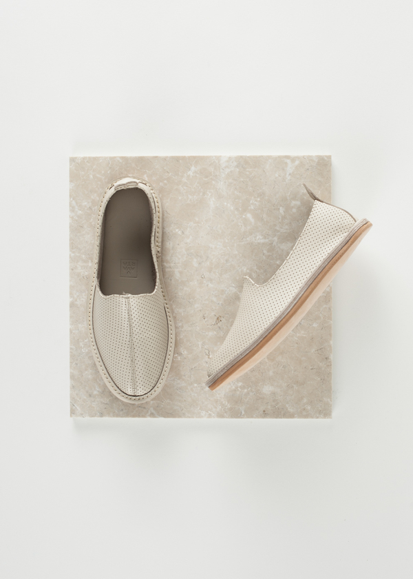 Vayarta Leather Slip On - Perforated Tile