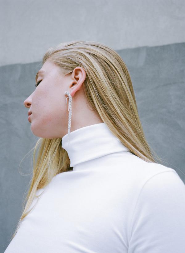 Ruby Star Braided Earrings