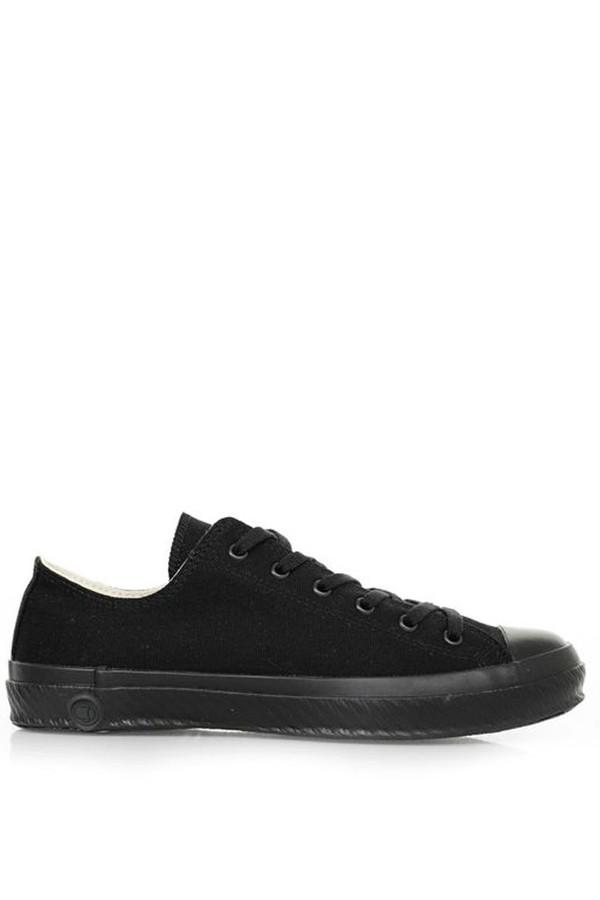 shoes like pottery low canvas sneaker mono black