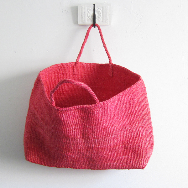 Far + Wide Collective Oversized Sisal Tote - Pink