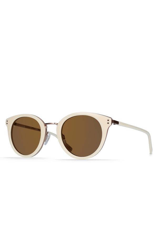 Potrero Sunglasses- Bone/ Rose Gold