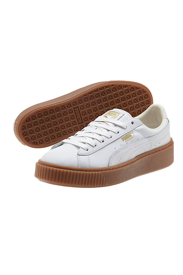 PUMA Basket Platform Core Women's Sneakers- White
