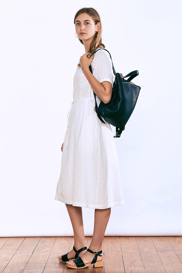 wrk-shp Summer Wrap Dress White
