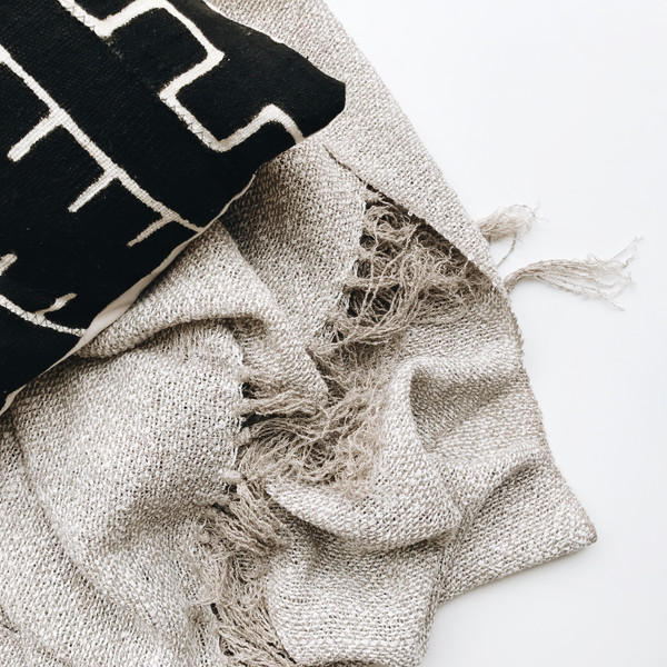 Territory Design Boucle Linen Throw