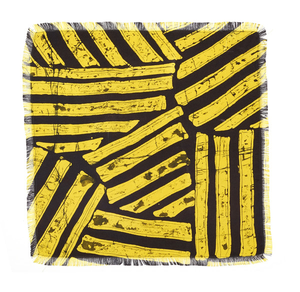 Post-Imperial Abstract Stripe Pocket Square