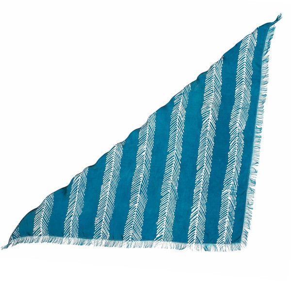 FISHBONE STRIPED TRI-SCARF