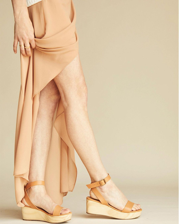 e3fd02ef63 Nisolo Sarita Wooden Wedge Sandal Tan 5 for 5. sold out. Nisolo