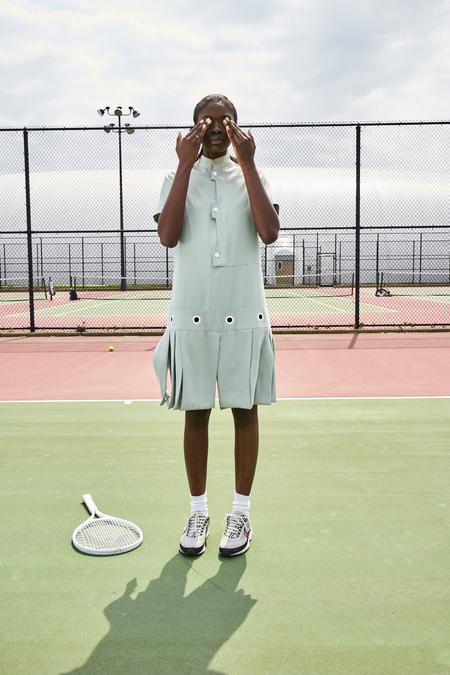 WILLIAM OKPO CHANNEL FLAP DRESS