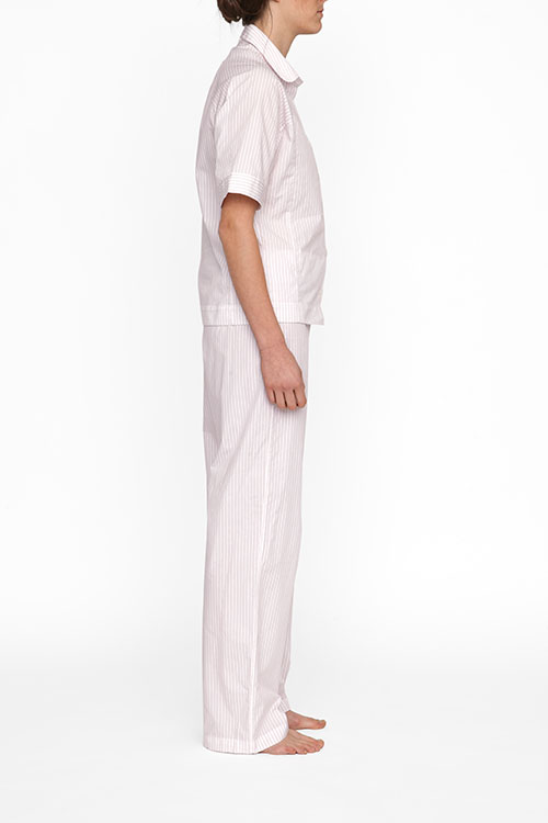 The Sleep Shirt Raglan Pyjama Top   Red + White Stripe