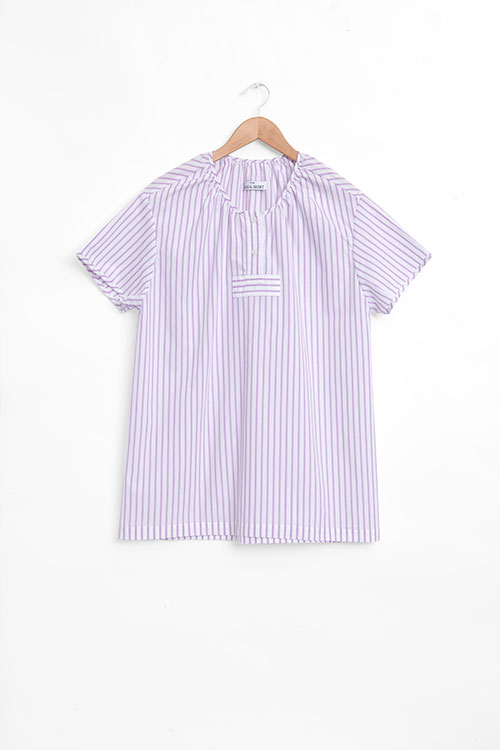 The Sleep Shirt Nightshirt | Raspberry Stripe