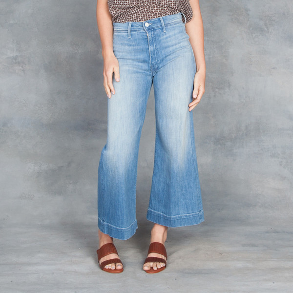 Mother Roller cropped jeans Discount Sneakernews Top Quality DXvehiK