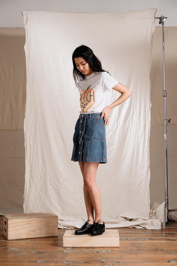 c077cf7a0d2 Ganni Benedict Denim Skirt. $185.00$111.00. Ganni