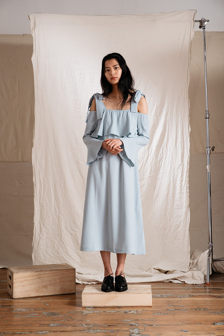 Ganni Clark Bell Sleeves Dress