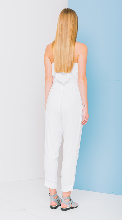 Jumpsuit with Crossover Front Detail