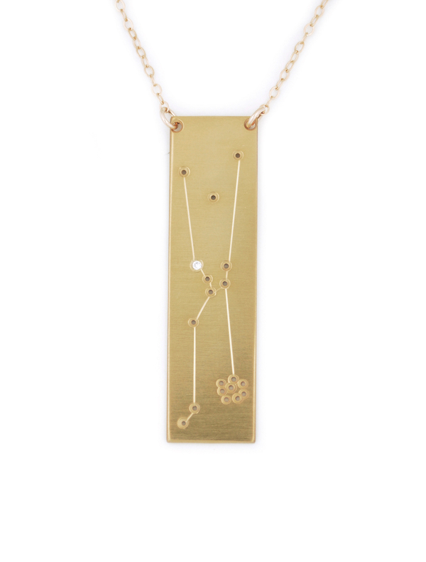 available is yellow clarke this piece only gold on vermeil uk necklace taurus astley zodiac biography pendant