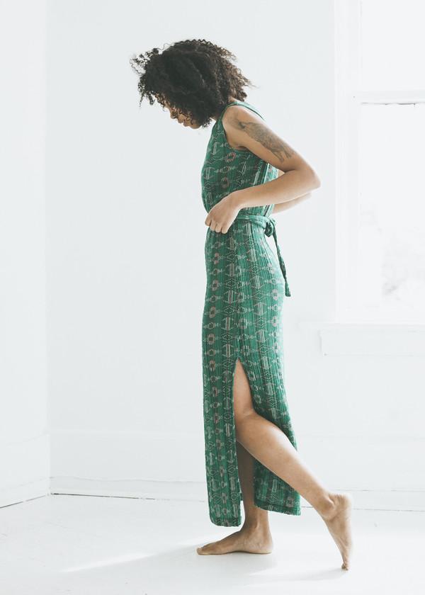 Ace & Jig Slipper Dress in Emerald Sky