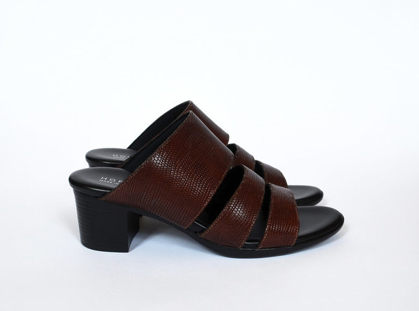 115226859 HOPP Three Strap Sandal - Brown Lizard