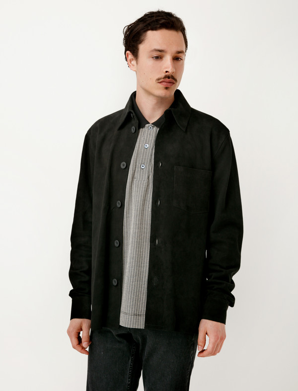 eb32583324aa5 Our Legacy Symbol Shirt Black Suede