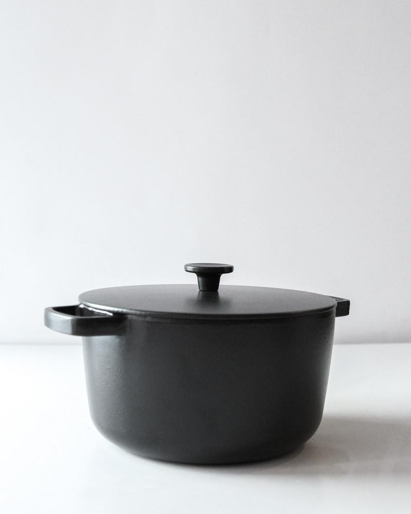 crane cookware enameled cast iron casserole black garmentory. Black Bedroom Furniture Sets. Home Design Ideas