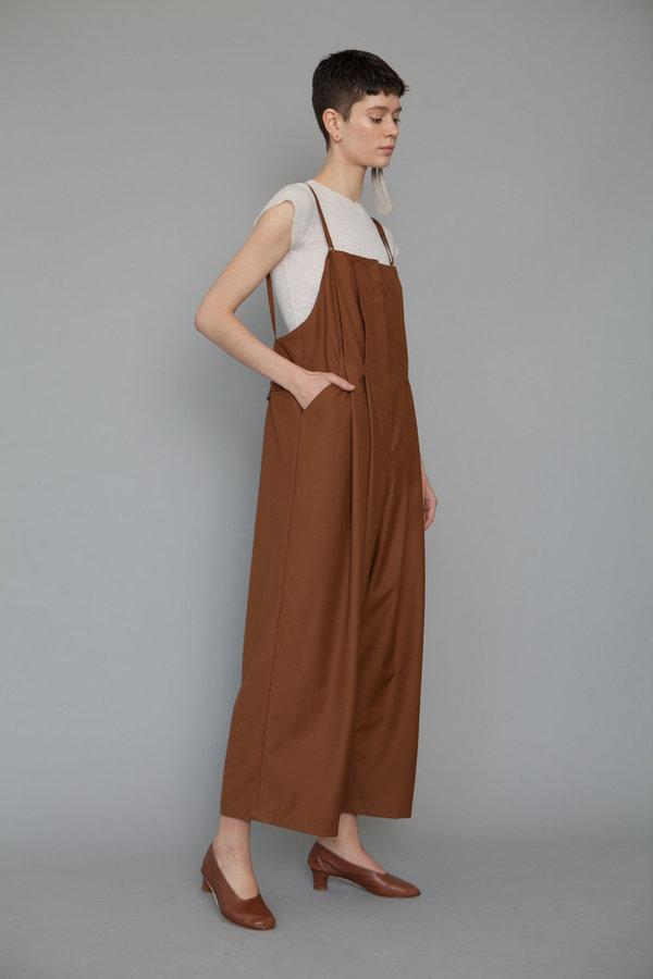 Lera pivovarova elegant lee overalls - almond