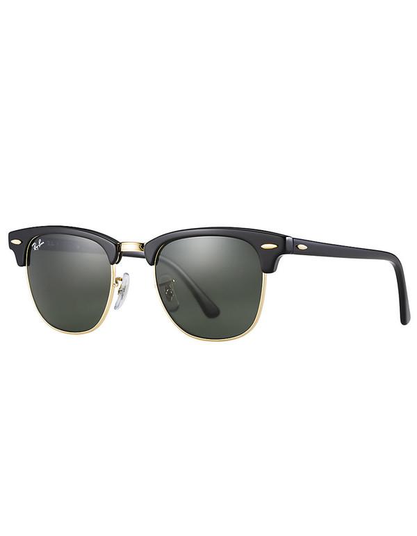 Ray-Ban Clubmaster Sunglasses Ebony Arista