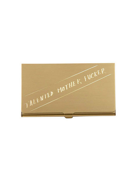 "In God We Trust ""Talented Motherfucker"" Card Case"