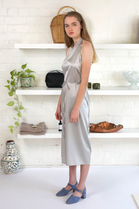 Baserange Silk Satin Apron Dress