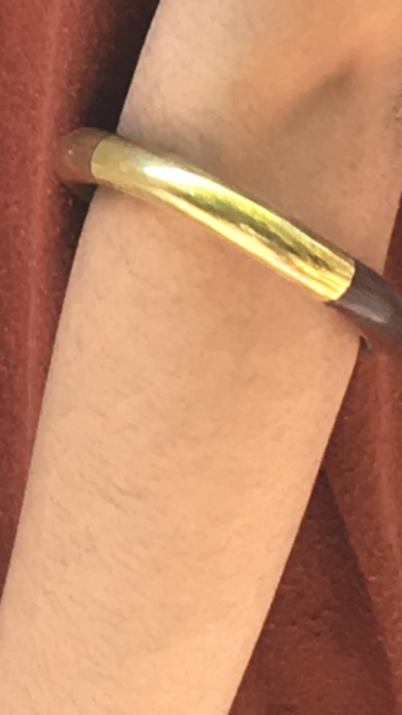 FAIRLIGHT NYC KC Wood And Brass Bracelet
