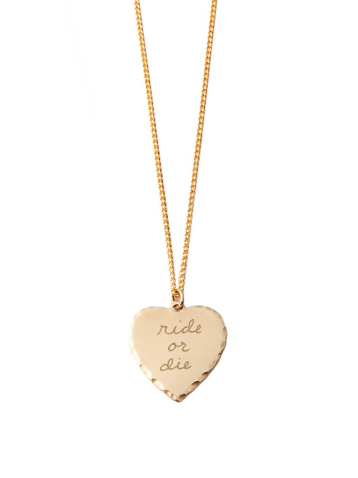 Igwt sweet nothing necklace brass ride or die garmentory for Ride or die jewelry