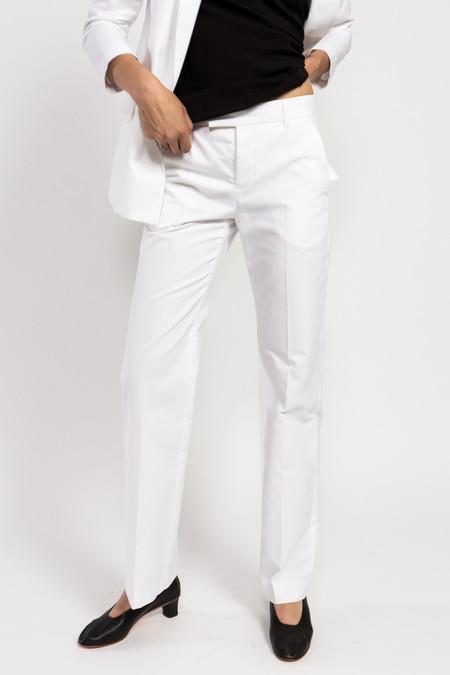 Maison Kitsune Oxford Masculine Pant - White