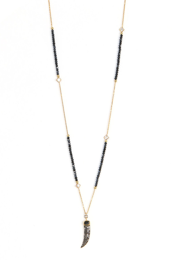 f68039b4bae Nickho Rey Midnight Black Diamond Claw Necklace. sold out