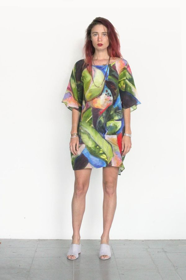 395726965c9 Strathcona Painted Palm Silk Tunic Dress | Garmentory