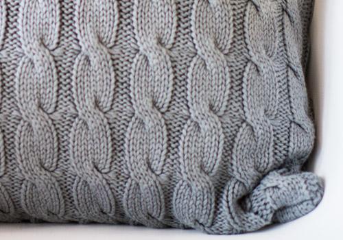 Darzzi Big Cable Grey Cotton Cushion