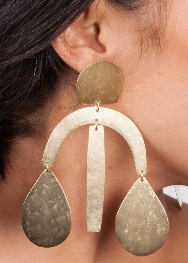 Annie costello brown arc drop chandelier earrings gold garmentory annie costello brown arc drop chandelier earrings gold mozeypictures Choice Image