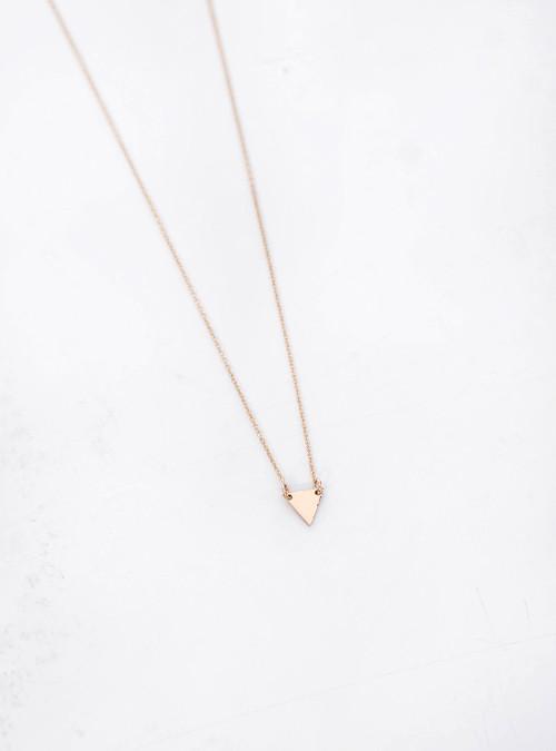 Gem + Blue Tiny Peak Necklace