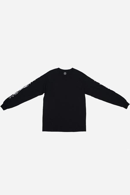 Silent Sound Long Sleeve Scribble T-Shirt - Black