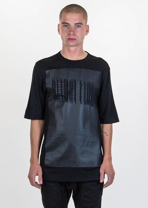 helmut lang black glitch logo t shirt garmentory. Black Bedroom Furniture Sets. Home Design Ideas