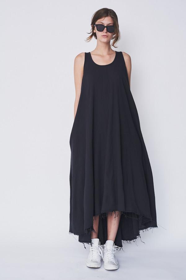 Black Crane Cotton Floral Dress Garmentory