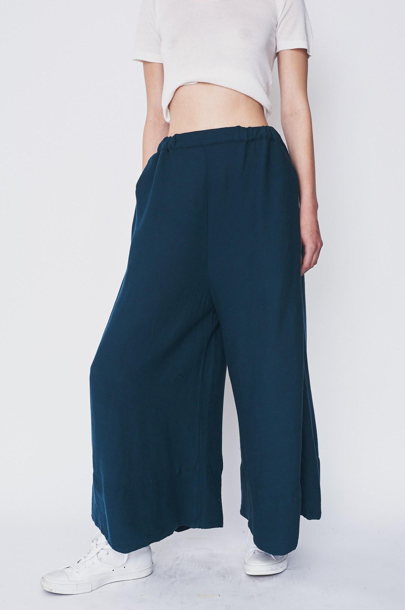Black Crane Cotton Crinkle Pants Garmentory