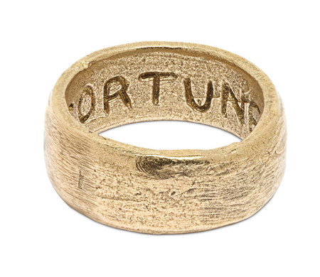 FORTUNE GOODS BAND RING IN BRASS