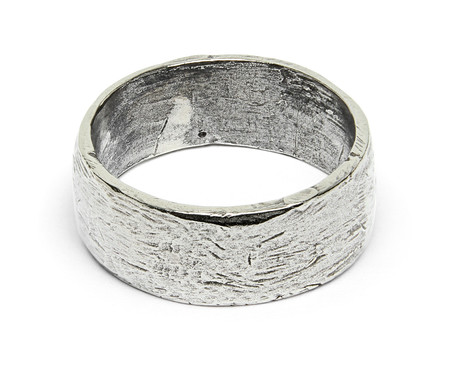 FORTUNE GOODS BAND RING IN WHITE BRONZE