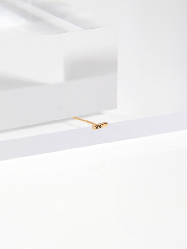 Still House Olko Stud Earring (Single) - 14k Gold/Pavé Diamonds