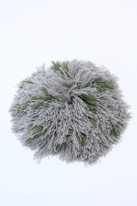 Artist Alpaca Handmade Fringe Pillows AA2 Green & Grey