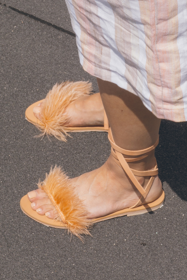 GARMENTORY EXCLUSIVE | Charlotte Stone Feather Sandal