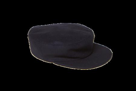 Clyde Acton Hat in Navy Wool